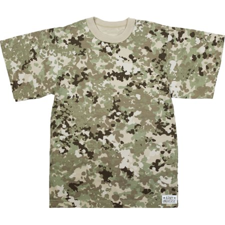 Army Universe - Total Terrain Camouflage Short Sleeve T-Shirt with ARMY  UNIVERSE Pin - Size X-Large (45
