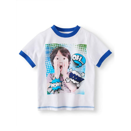 Ryan's World Short Sleeve Graphic Tee Shirt (Little Boys & Big Boys)