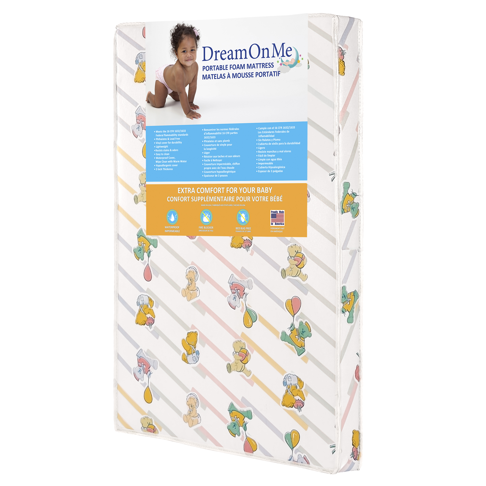 Dream On Me Ultra Lite Play Yard Firm Foam Mattress