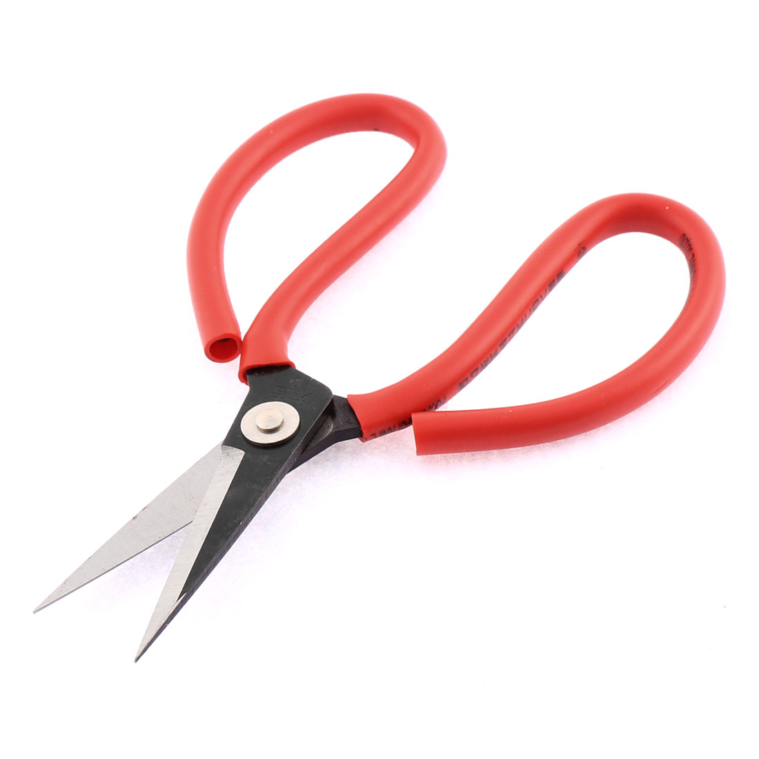 Unique Bargains Home Red Rubber Coated Handle Metal Cutter Scissors 6.5 Inches Long