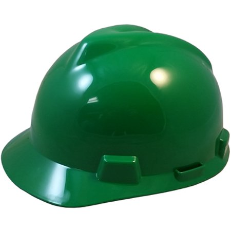 fed3480d MSA V-Gard Cap Style Hard Hats w/FasTrac III Suspensions and Handy Tote Bag  - Green