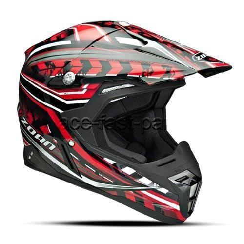 ZOAN 521-107 Synchrony Mx Helmet, Monster Black/red - xl