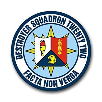 US Navy Destroyer Squadron 22 Decal Sticker 5.5