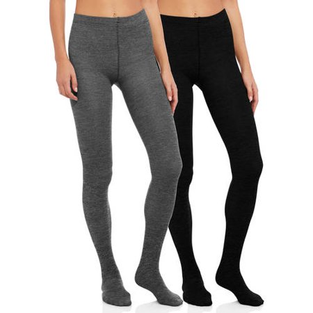 c3b9d53d18feee Secret Treasures - Fleece Lined Footed Tights - 2 Pack - Walmart.com