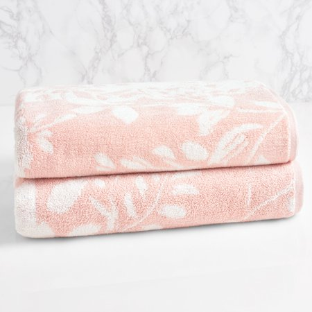 LOFT by Loftex Floral Block Cotton Bath Towel (Floral Bath Towels)