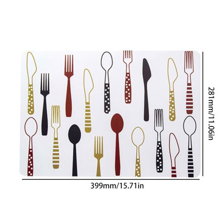 Waterproof Table Mat Plastic Heat-Resistant Pad Creative Printed Place Mat - image 3 of 7