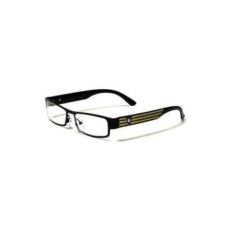 Rectangular Frame Men Women Designer Sunglasses Clear Lens RX Optical Eye (Optical Frame Sample Bags)