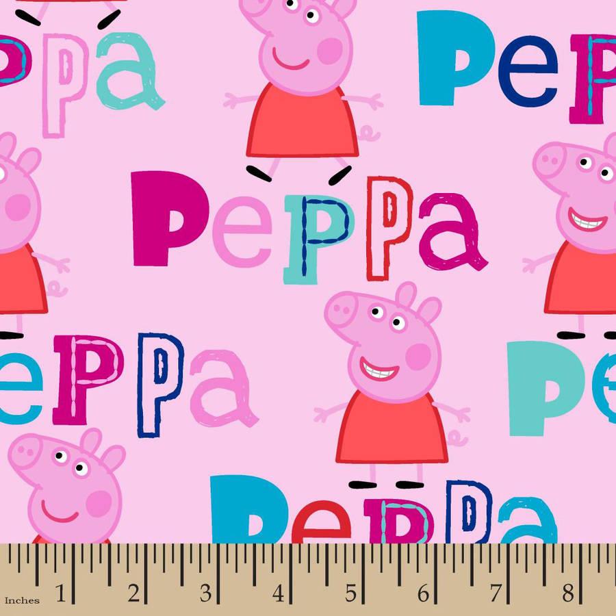 Peppa Pig Fabric By The Yard Pink 43 44 Width Walmart Com