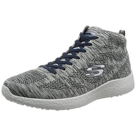 9b675d157a3f Skechers - 52110 GRY Gray Skechers Shoes Men Memory Foam Sporty High Top  knit mesh Fashion - Walmart.com