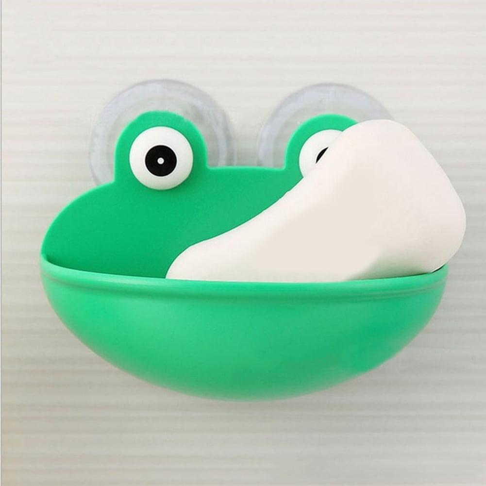 Moderna Lovely Frog Wall Suction Sponge Soap Drain Dish Rack Holder Bathroom Organizer