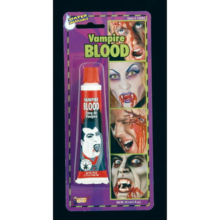 Halloween Blood Tube Makeup - Halloween Kid Makeup