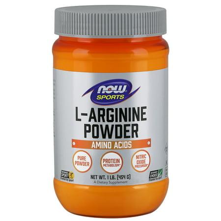 L-arginine Freeform Amino Acids (NOW Sports Nutrition, L-Arginine Powder, Amino Acids, 1-Pound)