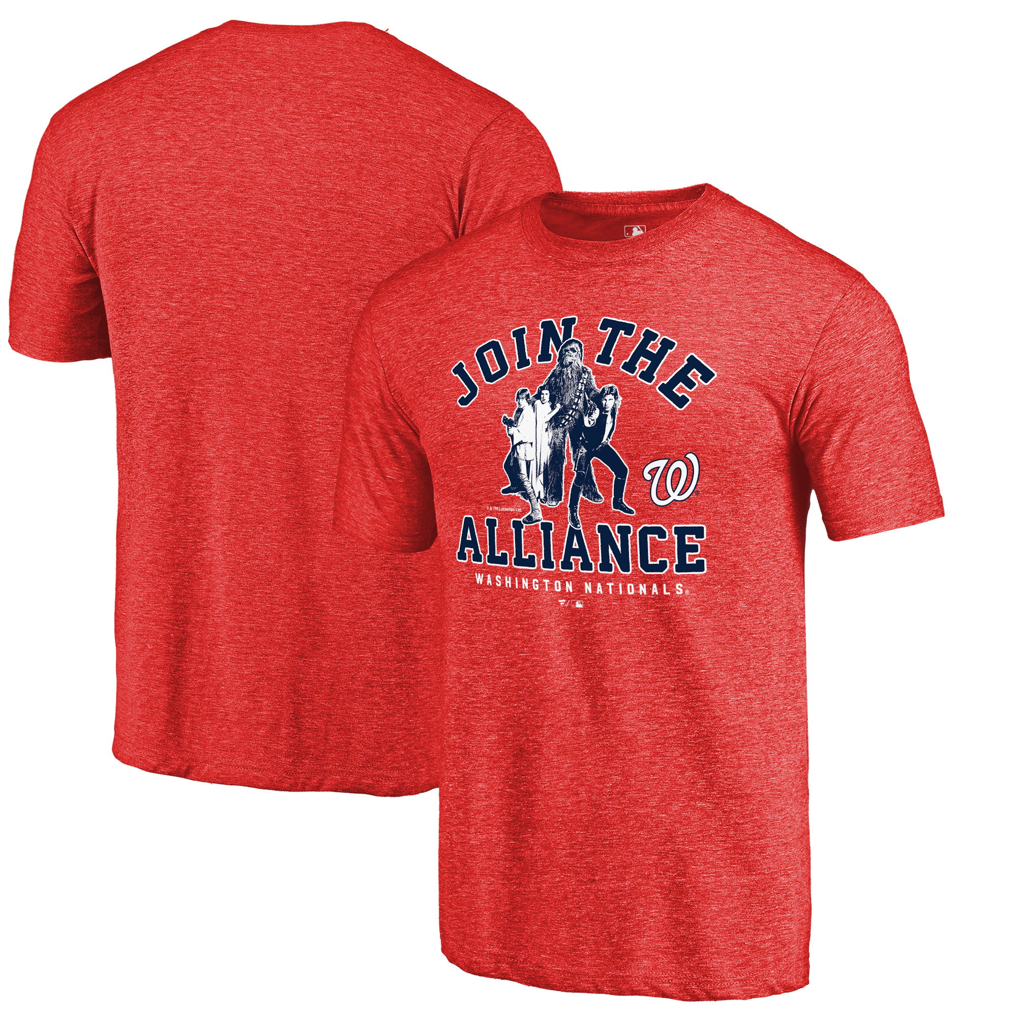 Washington Nationals Fanatics Branded MLB Star Wars Join The Alliance Tri-Blend T-Shirt - Red