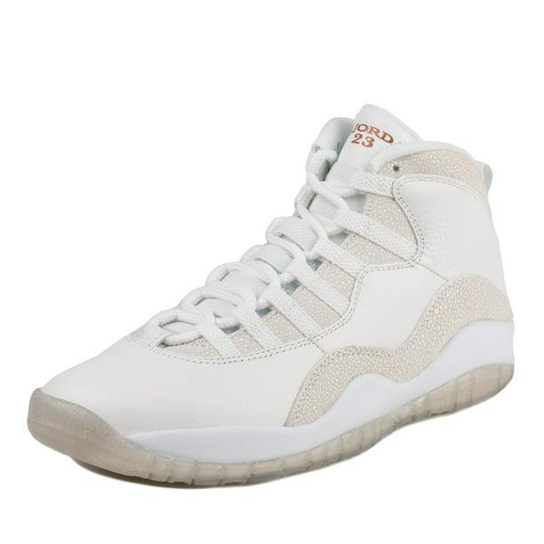 Nike Mens Air Jordan 10 Retro OVO Drake Summit White/Metallic Gold 819955-100