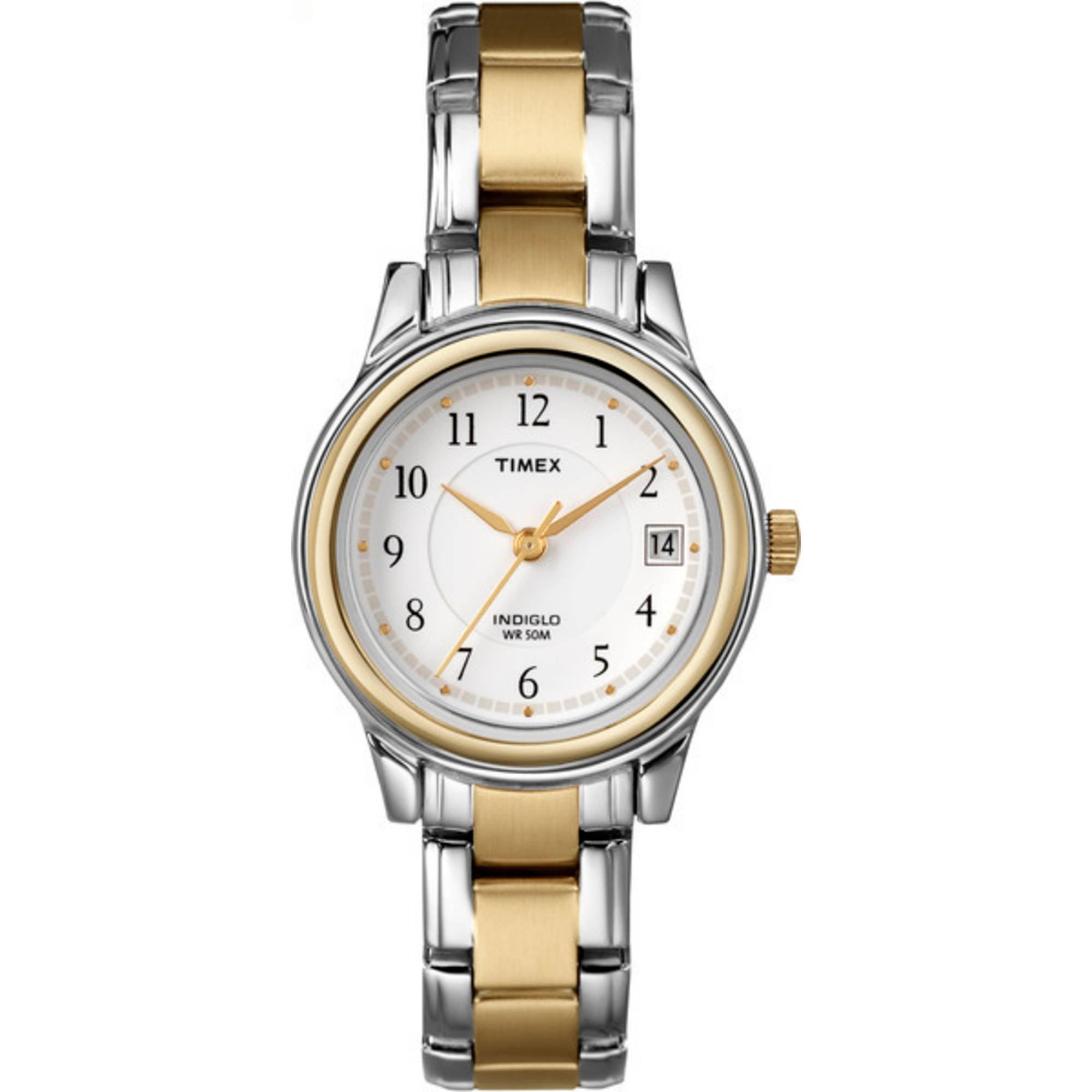 Timex Women's Porter Street Watch, Two-Tone Stainless Steel Bracelet