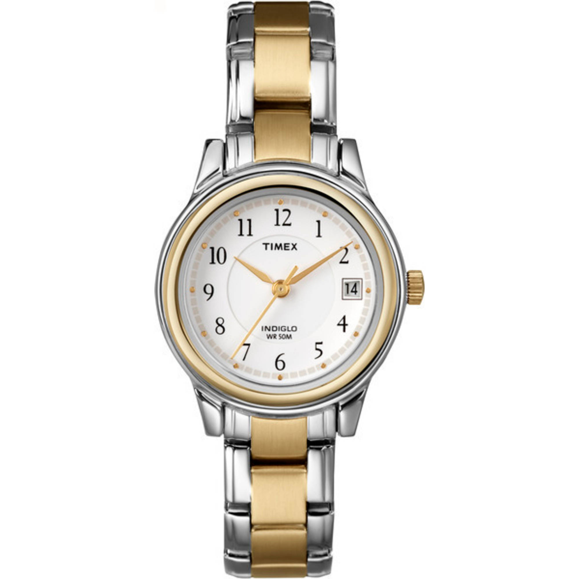 Timex Women's Porter Street Watch, Two-Tone Stainless Steel Bracelet