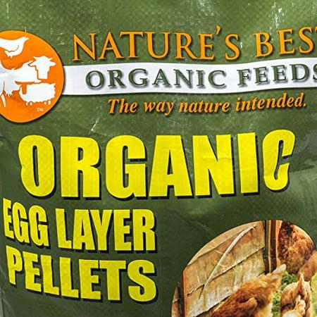 Nature's Best Organic Feeds 4BM0650P Organic Egg Layer Pellet, 40 lb