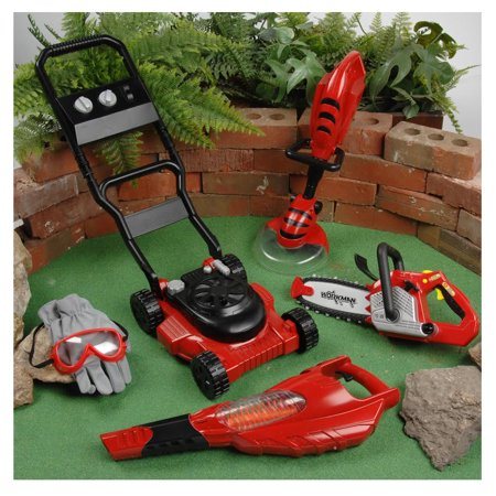 Kids Trimmer - CP Toys Power Garden Tools - Push Mower, Chain Saw, String Trimmer, and Blower