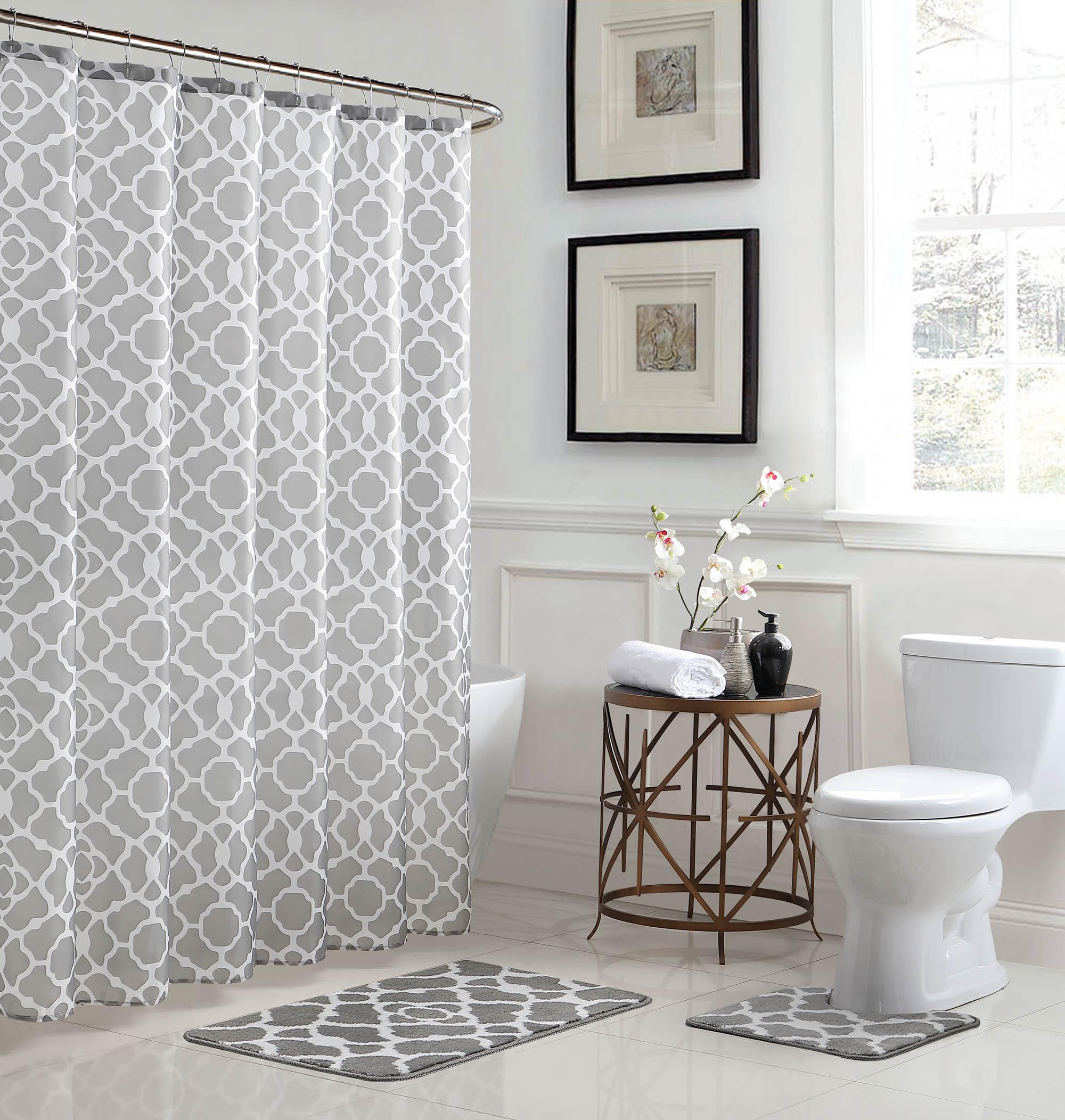Elsa Geometric 15-Piece Bathroom Shower Set