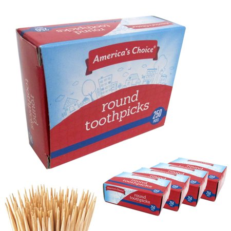 1000 Wooden Toothpicks Cocktail Appetizer Sandwich Party Food Pick Oral Dental