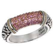 Phillip Gavriel 18k Gold & Sterling Silver Pink Sapphire Signet Ring, Size 8