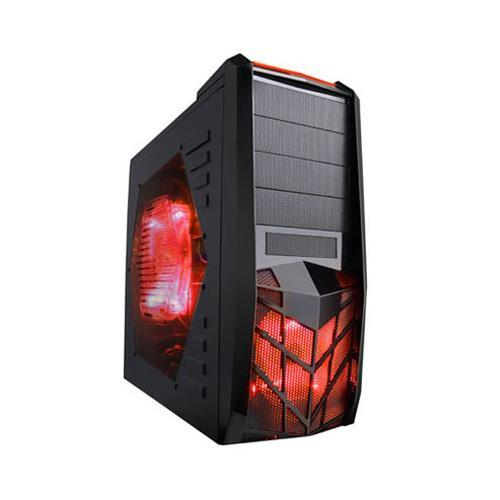 Apevia X-TRP-RD X-TROOPER Series Red Metal ATX Mid Tower / Computer Case with Side Window
