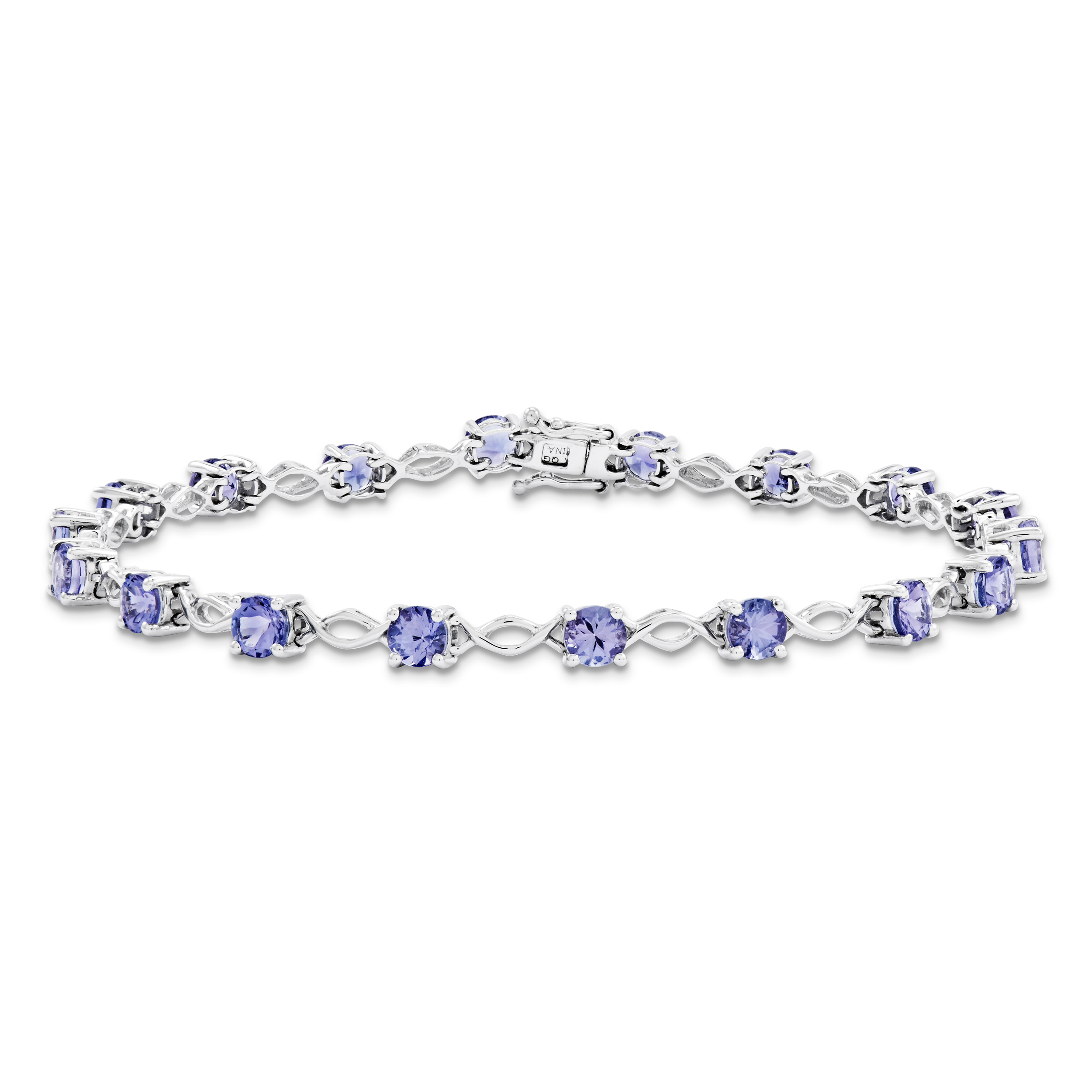 14k White Gold White Tanzanite Bracelet by