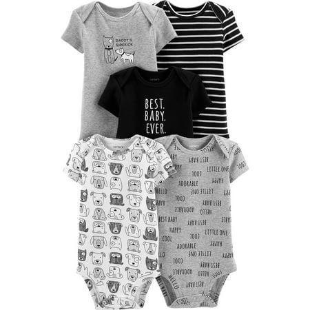 Carter's Baby Boys' 5-Pack Original Bodysuits, Best Baby