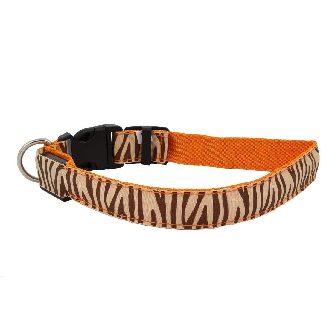 Unique Bargains Orange LED Light Flashing Zebra-Stripe XL Size Dog Neck Collar USB Rechargeable - image 7 of 7