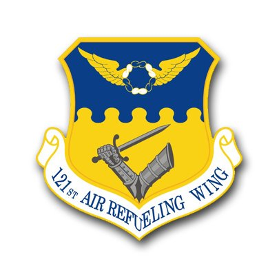 3.8 Inch Air Force 121st Air Refueling Wing Vinyl Transfer -
