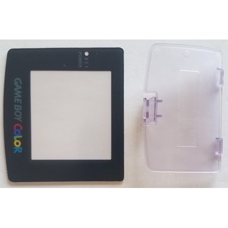 (Nintendo Game Boy Color Replacement Screen Lens + Purple Battery Cover)