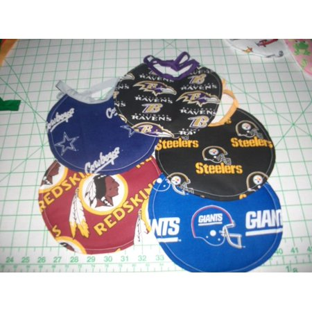 - Handmade Newborn Bibs - made with NFL fabric