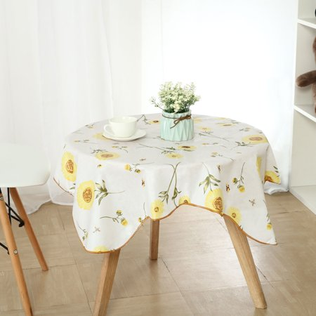 Vinyl Plastic Tablecloth for Square Tables 35