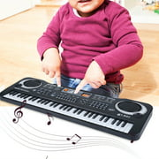 Tbest 61-Key Electric Digital Key Board Piano Musical Instruments Kids Toy with Microphone, Electric Piano with Microphone, Keyboard Electric Piano