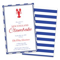 Personalized Clambake Party Invitations