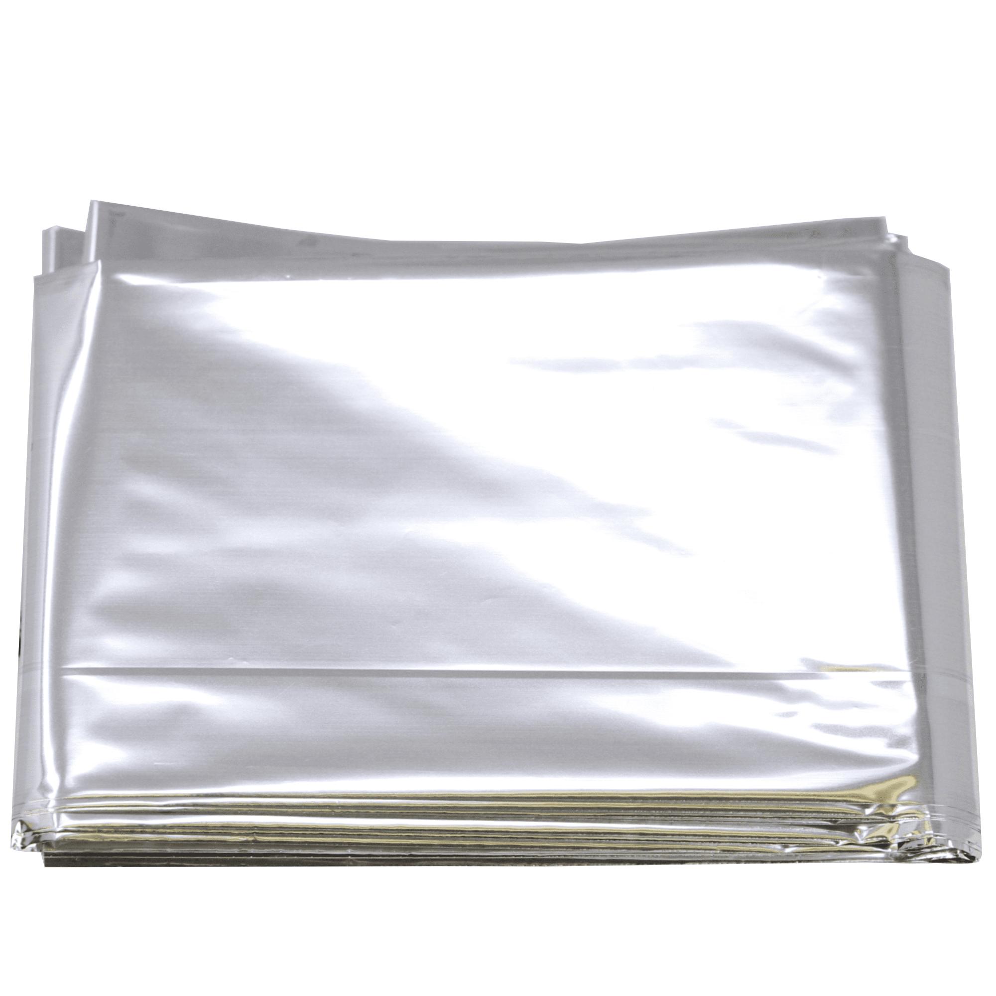 """Emergency Mylar Blanket 52/"""" x 84/"""" Pack of 12 Blankets"""