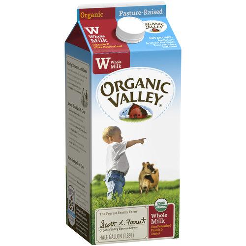 Organic Valley Organic Whole Milk, 0.5 gal