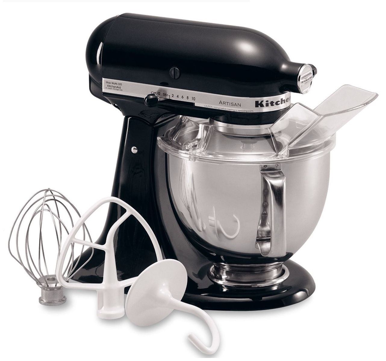 KitchenAid RRK150 5 QUART ARTISAN SERIES TILT HEAD STAND MIXER ONYX BLACK (Certified Refurbished)