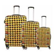 Ful Emoji Hardside 3 Piece Spinner Luggage Set