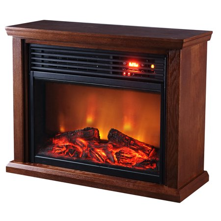 Optimus Fireplace Infrared Heater With Remote, LED Display ()