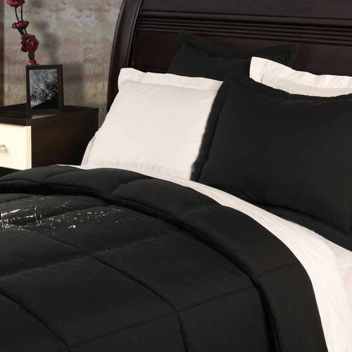 Stayclean Polyester Microfiber Down Alternative Stain- and Water-Resistant Comforter Set