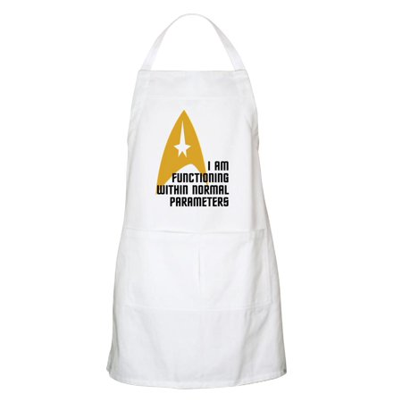 CafePress - Star Trek Normal Parameters Apron - Kitchen Apron with Pockets, Grilling Apron, Baking Apron (Tea Star Trek)