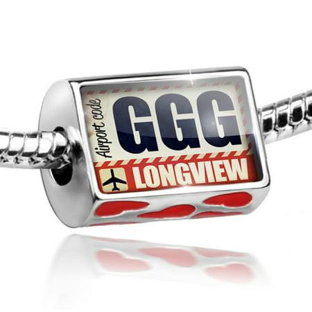 Bead Airportcode Ggg Longview Charm Fits All European Bracelets