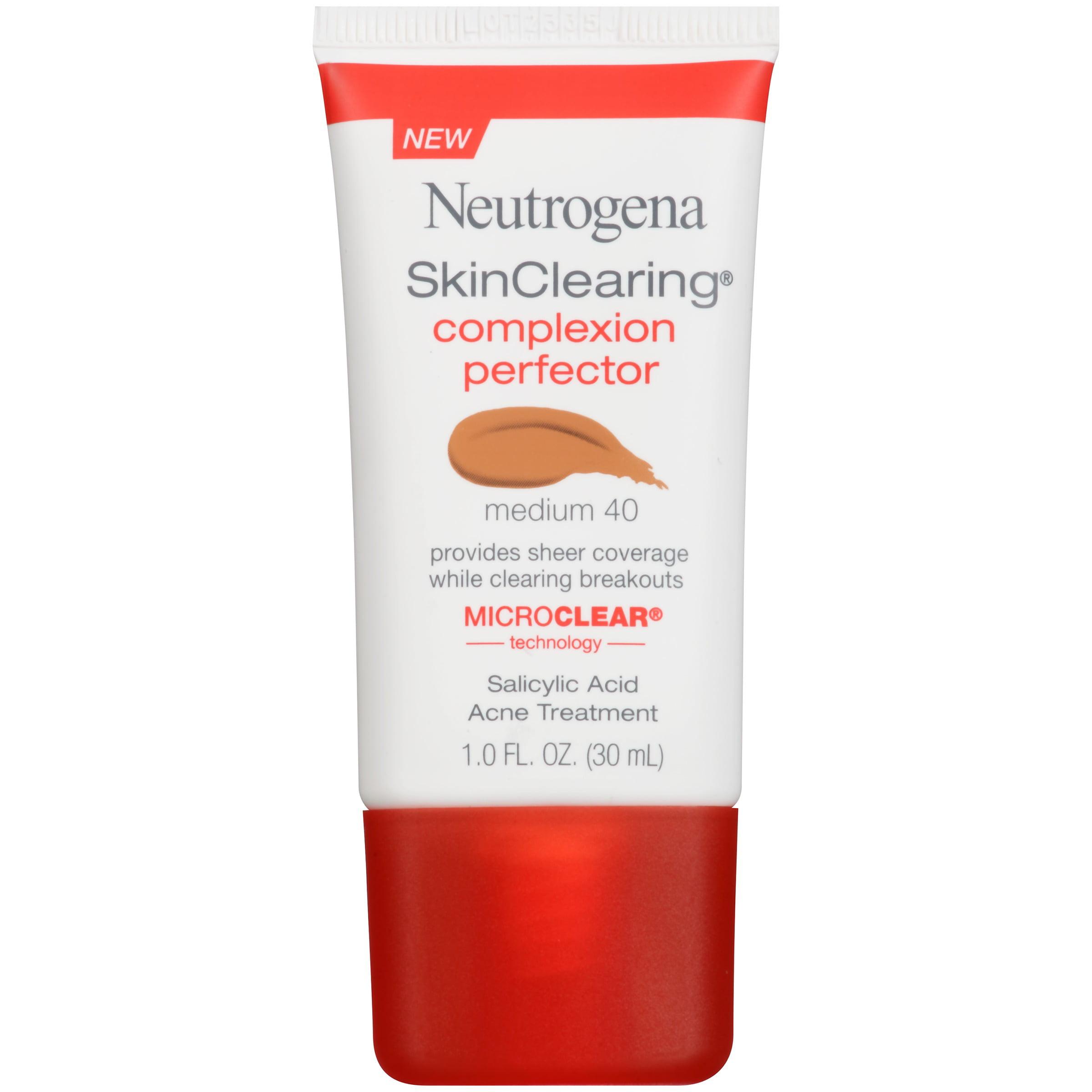 Maquillaje Para Ojos Perfeccionador de tez Neutrogena Skinclearing, mediana 1 FL. Oz + Neutrogena en Veo y Compro