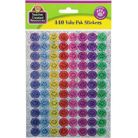 MINI HAPPY FACES SPARKLE STICKERS VALU-PAK](Mini Stickers)