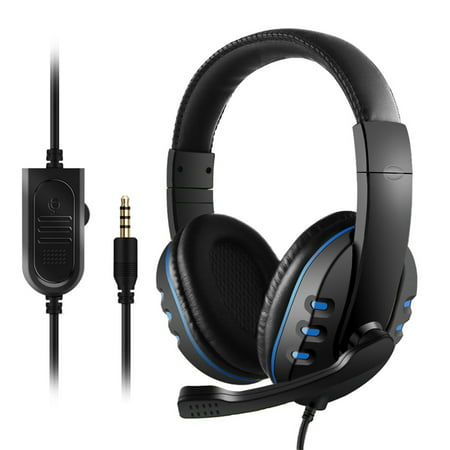 3.5mm Wired Gaming Headphones Over Ear Game Headset Noise Canceling Earphone for PC Laptop PS4 Smart Phone