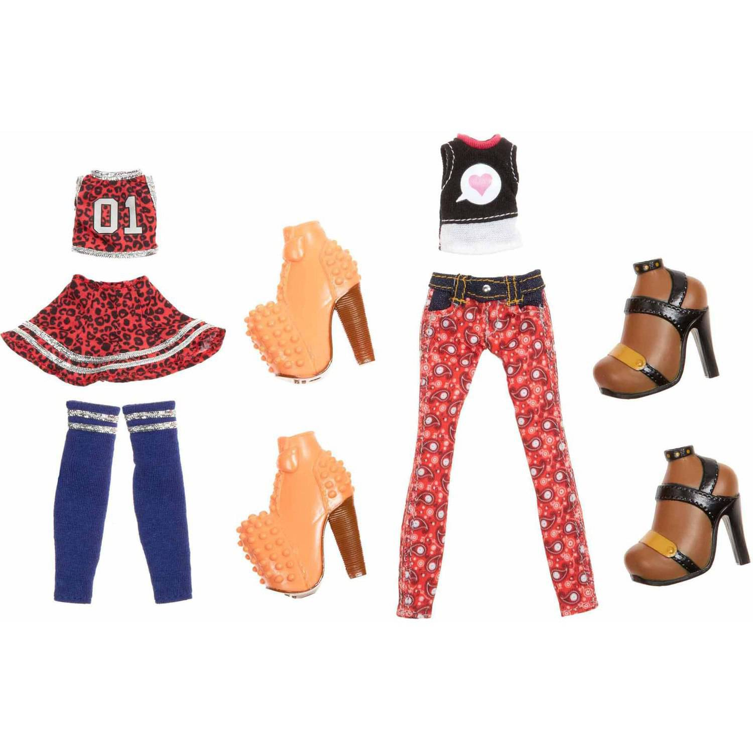 Bratz Deluxe Fashion Pack Doll Clothes 7 pc Pack by MGA Entertainment