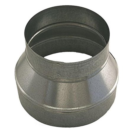"12"" x 6"" Round Reducer Duct Fitting, 26 ga. By Ductmate"