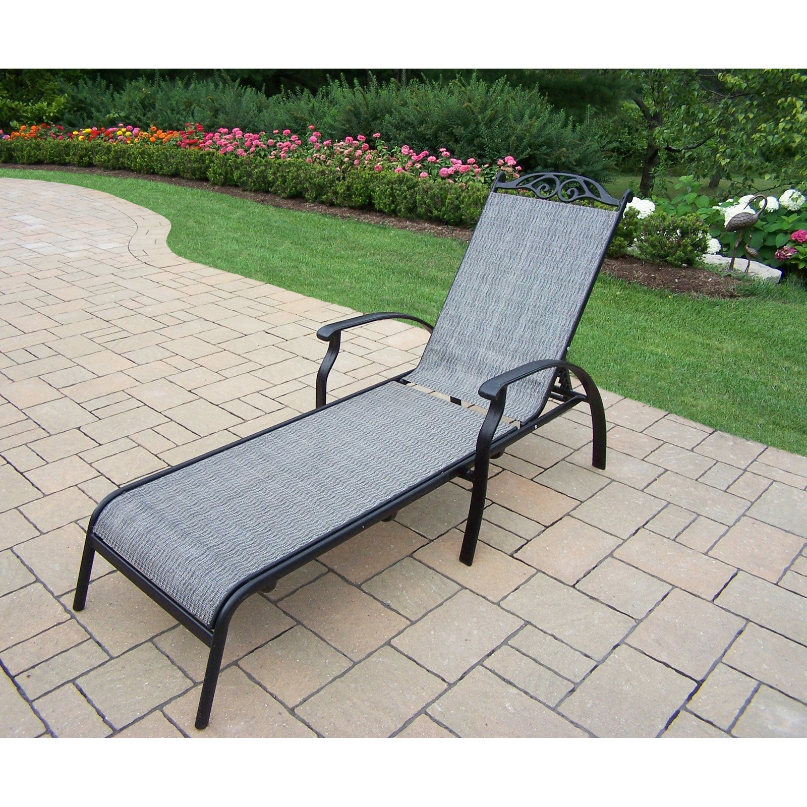 Oakland Living Cascade Aluminum Foldable Outdoor Chaise Lounge