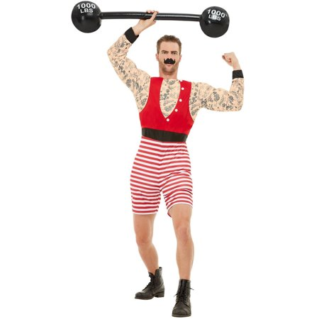 Male Carnival Costumes (Men's Vintage Circus Carnival Strongman Deluxe Costume Large)